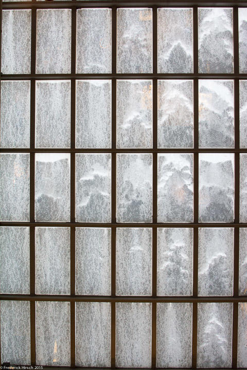 Snow on the skylights at the Metropolitan Museum of Art
