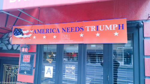 Trump sign in New York City in November of 2015, Upper East Side
